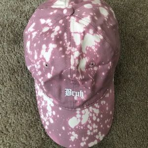 'Bruh' Pink/White Baseball Cap